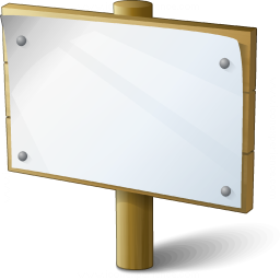 Signboard Empty Icon 256x256