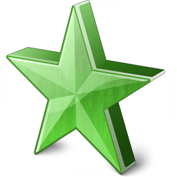 Star 2 Green Icon 256x256