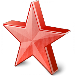 Star 2 Red Icon 256x256