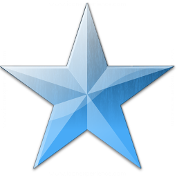 Star Blue Icon 256x256