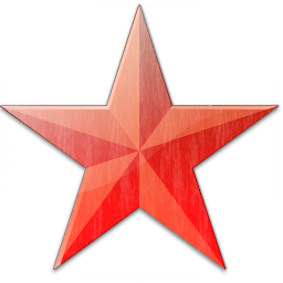 Star Red Icon 256x256