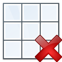 Table Delete Icon 256x256