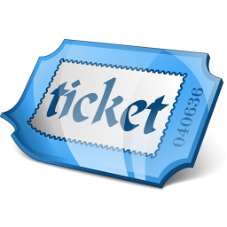 Ticket Blue Icon 256x256