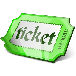 Ticket Green Icon 256x256
