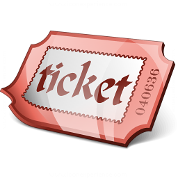 Ticket Red Icon 256x256