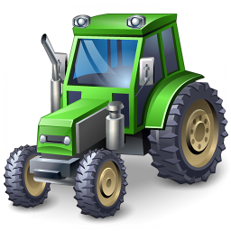 Tractor Green Icon 256x256