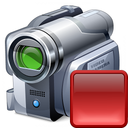 Videocamera Stop Icon 256x256