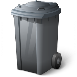 Waste Container Grey Icon 256x256