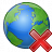Earth Delete Icon