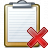 Clipboard Delete Icon 48x48