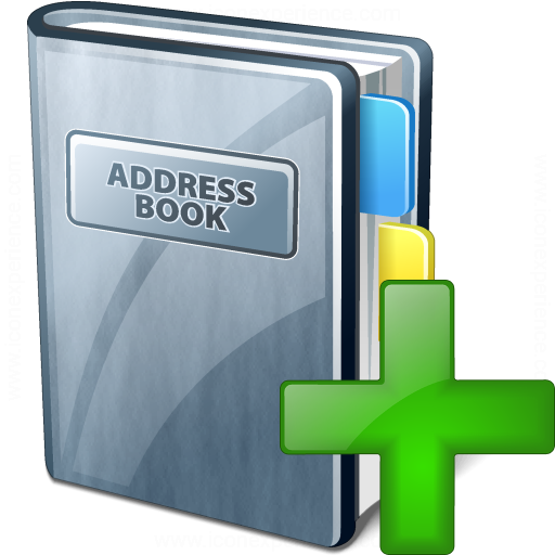 how to add to address book