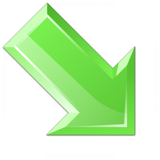 Green Arrow Icon Arrow Down Right Green Icon