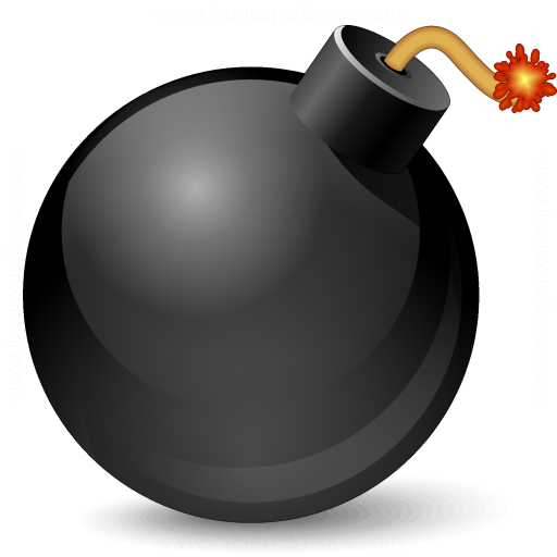 IconExperience » V-Collection » Bomb Icon