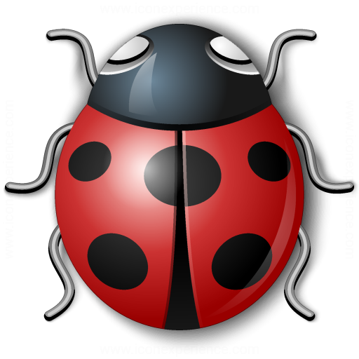 Bug Red Icon
