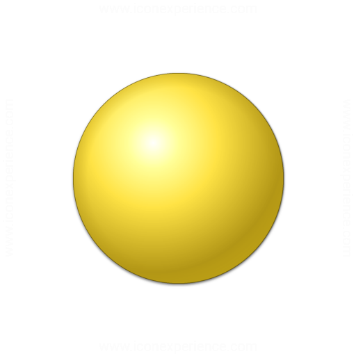 Yellow Ball Icon Bullet ball yellow icon