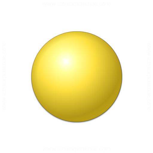 Iconexperience 187 V Collection 187 Bullet Ball Yellow Icon