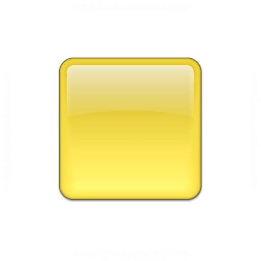 Bullet Square Glass Yellow IconYellow Square Png