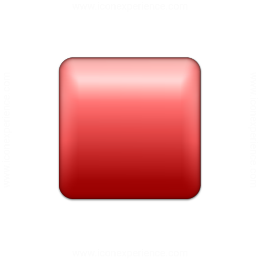 Bullet Square Red Icon