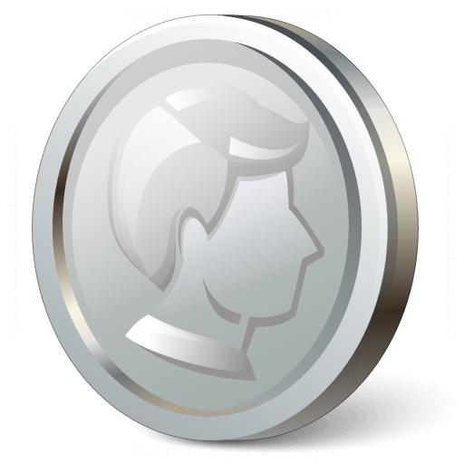 iconexperience 187 vcollection 187 coin silver icon