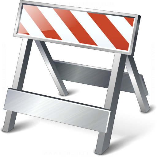 IconExperience » V-Collection » Construction Barrier Icon: https://www.iconexperience.com/v_collection/icons/?icon...