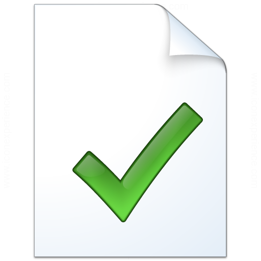 Document Check Icon 512x512
