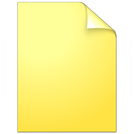 Document Plain Yellow Icon