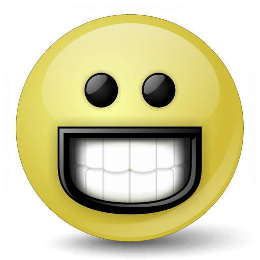 IconExperience » V-Collection » Emoticon Grin Icon