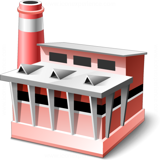 3d Factory Icon