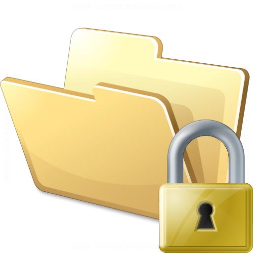 IconExperience » V-Collection » Folder Lock Icon