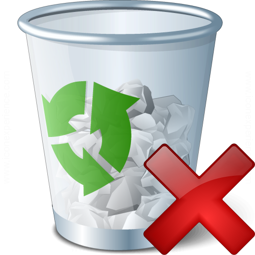IconExperience » V-Collection » Garbage Delete Icon