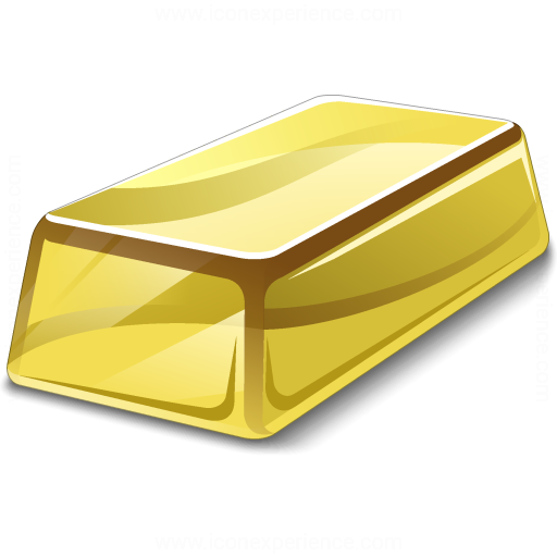 IconExperience » V-Collection » Gold Bar Icon
