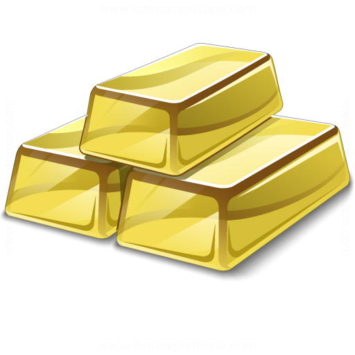 iconexperience 187 vcollection 187 gold bars icon