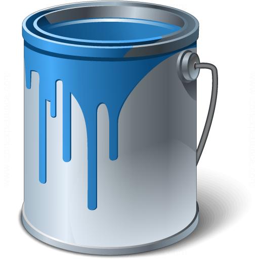 Gallon Bucket Of Black Paint