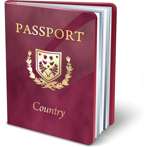 Passport Purple Icon