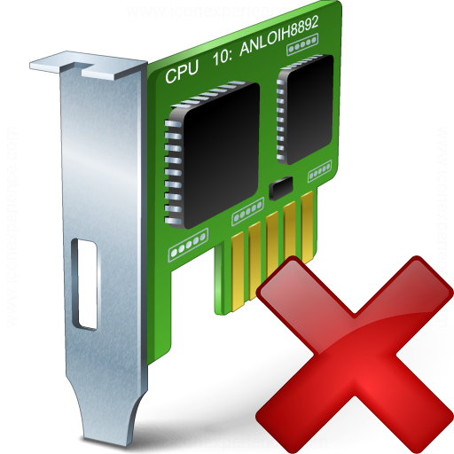Pci Card Delete Icon