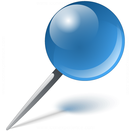 Blue pin png #39466 - Free Icons and PNG Backgrounds