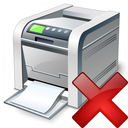 Printer Delete Icon