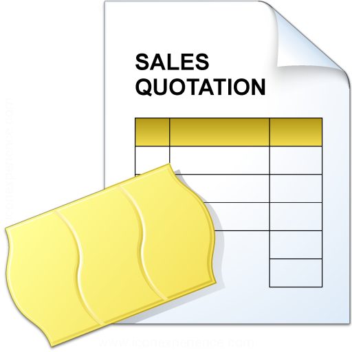 IconExperience VCollection Sales Quotation Icon – Sales Quotation