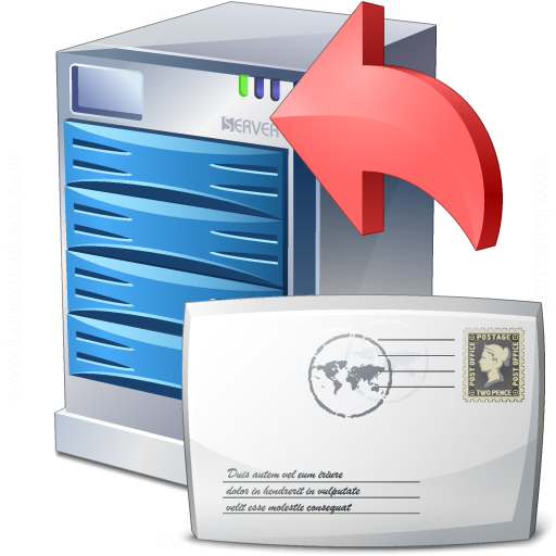 Server Mail Upload Icon
