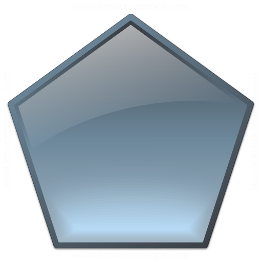 IconExperience » V-Collection » Shape Pentagon Icon