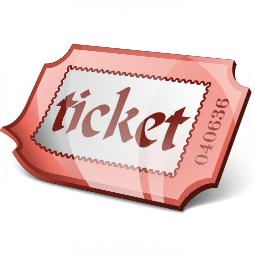 Ticket Red Icon