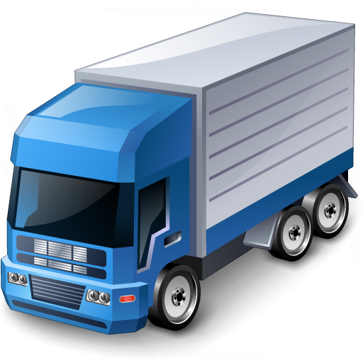 IconExperience » V-Collection » Truck Blue Icon