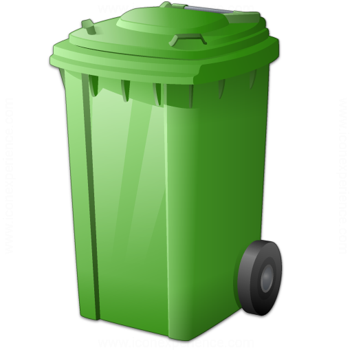 Iconexperience v collection waste container green icon - Garden waste containers ...