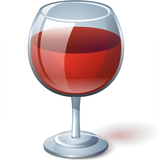 Iconexperience 187 V Collection 187 Wine Red Glass Icon