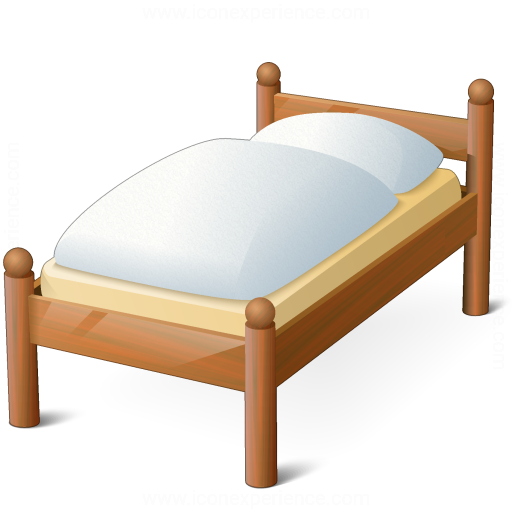 Iconexperience 187 V Collection 187 Wooden Bed Icon